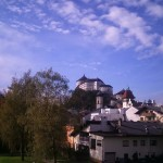 Ausblick auf die Festung in Kufstein vom Euregio Büro aus.