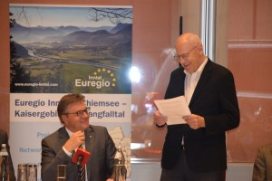 LH Günther Platter und Euregio Inntal Präsident Walter J. Mayr