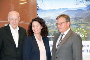 Euregio Inntal Präsident Walter J. Mayr, LHStvin Ingrid Felipe und LH Günther Platter
