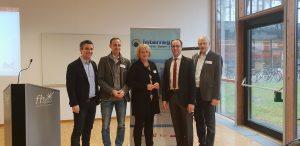 v.l. n.r. Markus Gneiß (VB Interreg Bayern Tirol, Günter Salchner (REA Außerfern), Sigrid Hilger (Land Tirol), Mario Döller (FH Kufstein), Walter J. Mayr (Euregio Inntal)